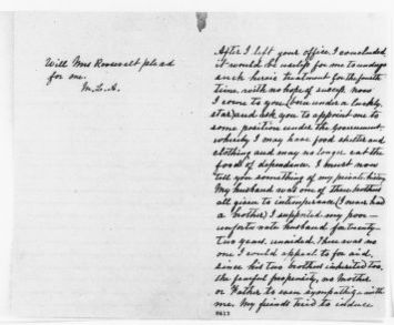 Theodore Roosevelt Papers: Series 1: Letters and Related Material, 1759-1919; 1901, Mar. 18-31