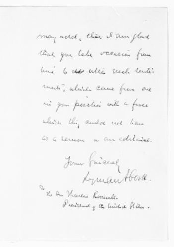 Theodore Roosevelt Papers: Series 1: Letters and Related Material, 1759-1919; 1903, Sept. 8-Oct. 16