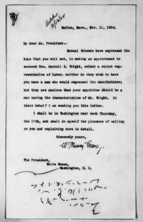 Theodore Roosevelt Papers: Series 1: Letters and Related Material, 1759-1919; 1904, Nov. 11-Dec. 9