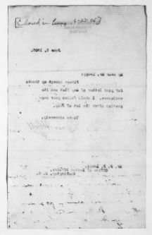 Theodore Roosevelt Papers: Series 1: Letters and Related Material, 1759-1919; 1905, June 6-July 3