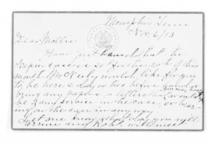 Mary Church Terrell Papers: Family Correspondence, 1890-1955; Anna Wright Church (stepmother), 1913-1927