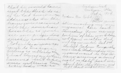 Mary Church Terrell Papers: Family Correspondence, 1890-1955; Laura Terrell Jones (sister-in-law), 1904-1941