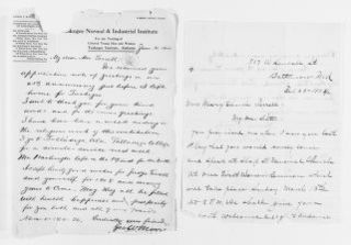 Mary Church Terrell Papers: Correspondence, 1886-1954; 1904-1905