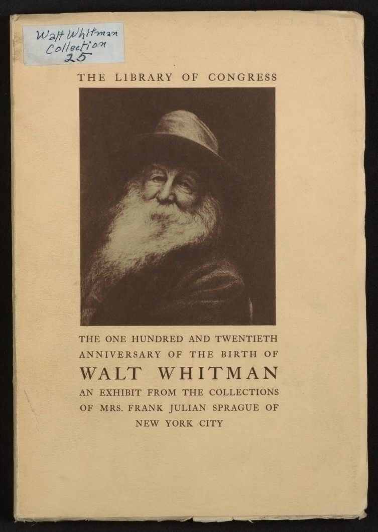 Walt Whitman Papers: Printed matter; 1935-1939 , 1954
