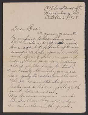 """Rosa Parks Papers: General Correspondence, 1928-2006; Alphabetical file; """"Galatas,"""" 1928-1932"""