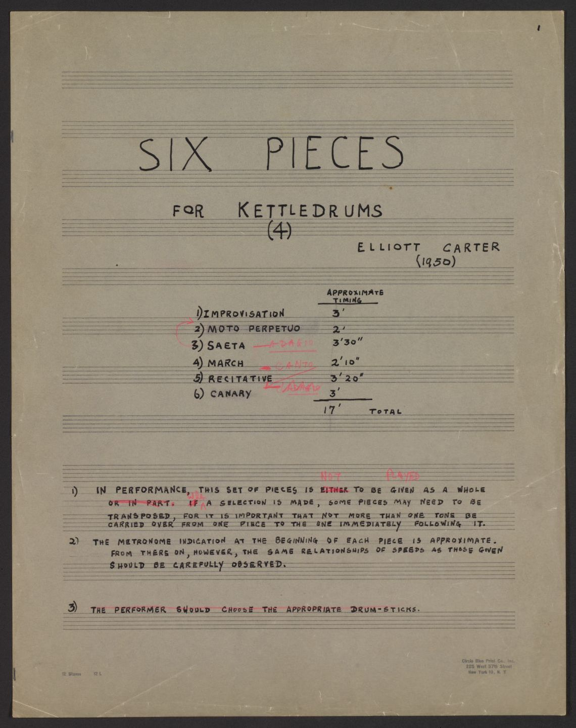 Notated Music, Library of Congress Online Catalog | Library