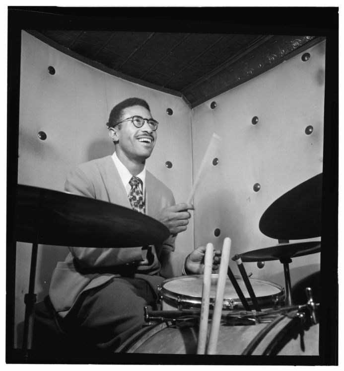 Portrait of Max Roach by William P. Gottlieb, 1947. Music Division, Library of Congress