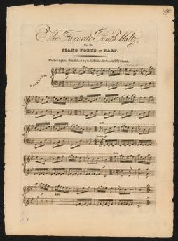 The  favorite Bath waltz for the piano forte or harp