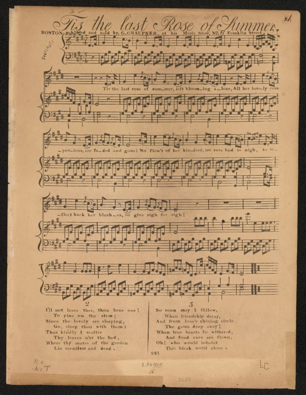 Notated Music, Songs, Boston | Library of Congress