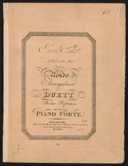 Tweed Side a favorite air and a rondo arranged as a duett for two performers on one piano forte