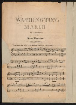 Washington's march as performed at the New Theatre