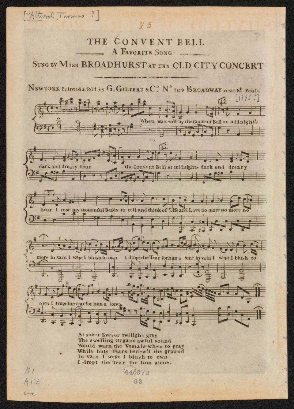 Notated Music, 1700/1799, New York | Library of Congress