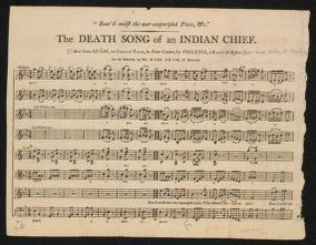 """Rear'd midst the war-empurpled plain, etc."" The death song of an Indian chief (Taken from Ouábi, an Indian Tale, in four cantos, by Philemia, a lady of Boston)"