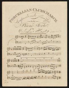 Porcellian Club's march composed and arranged for the piano forte