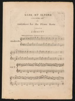 Mark my Alford a favorite air with variations for the piano forte