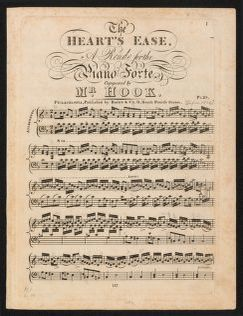 The  heart's ease a rondo for the piano forte