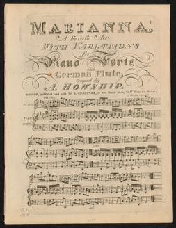 Marianna a favorite air with variations for a piano forte and German flute