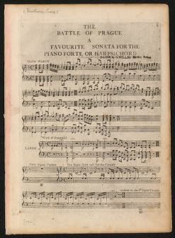The  battle of Prague a favourite sonata for the pianoforte or harpsichord