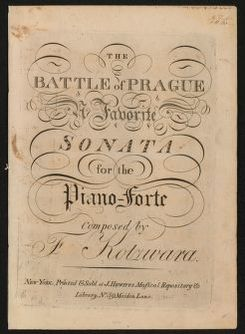 The  Battle of Prague favorite sonata for the piano forte