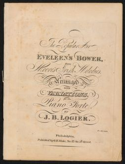 The  popular air Eveleen's Bower from Moore's Irish melodies