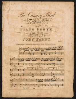 The  canary bird waltz for the piano forte