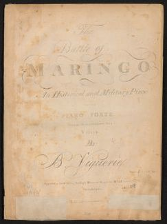 The  Battle of Maringo An historical and military piece for the piano forte with an accompaniment for a violin