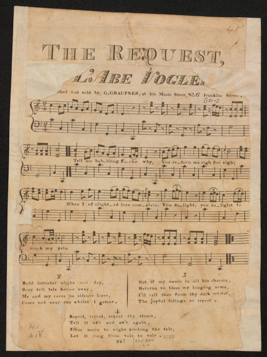 Notated Music, Scores, Boston | Library of Congress