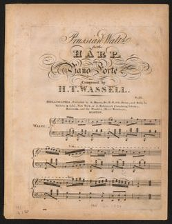 Prussian waltz for the harp, or piano forte