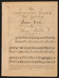 The  Copenhagen Waltz with variations for the piano forte