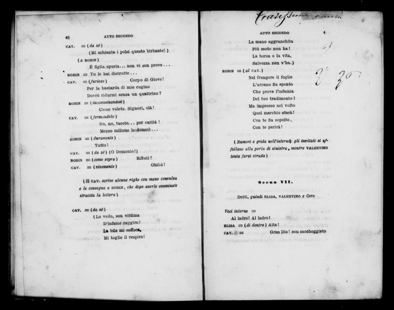 Albert Schatz Collection Memorie Del Diavolo Libretto Italian