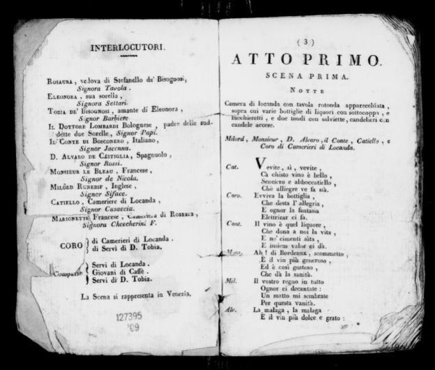 Image 4 Of La Vedova Scaltra Melodramma Buffo Library Of Congress