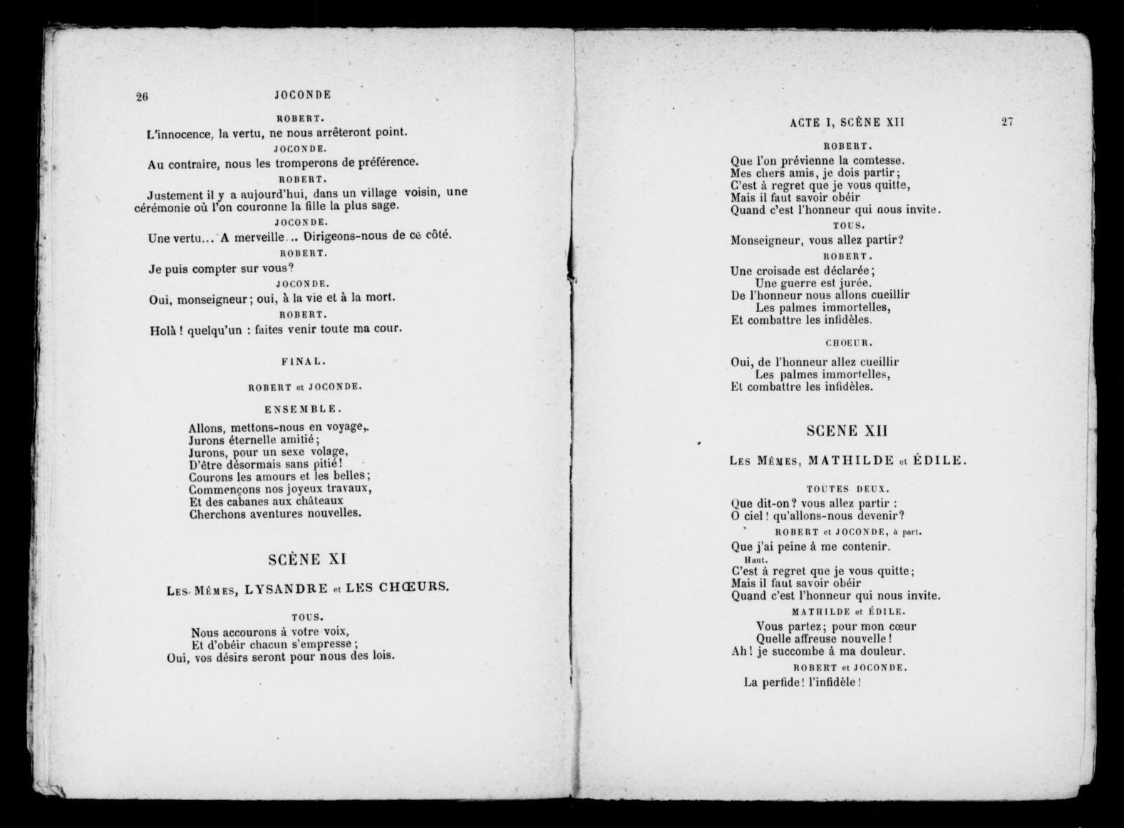 Image 19 Of Joconde Libretto Library Of Congress