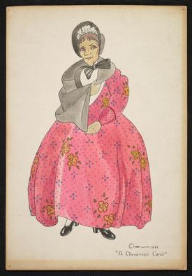 Costume design from A Christmas Carol: Charwoman.