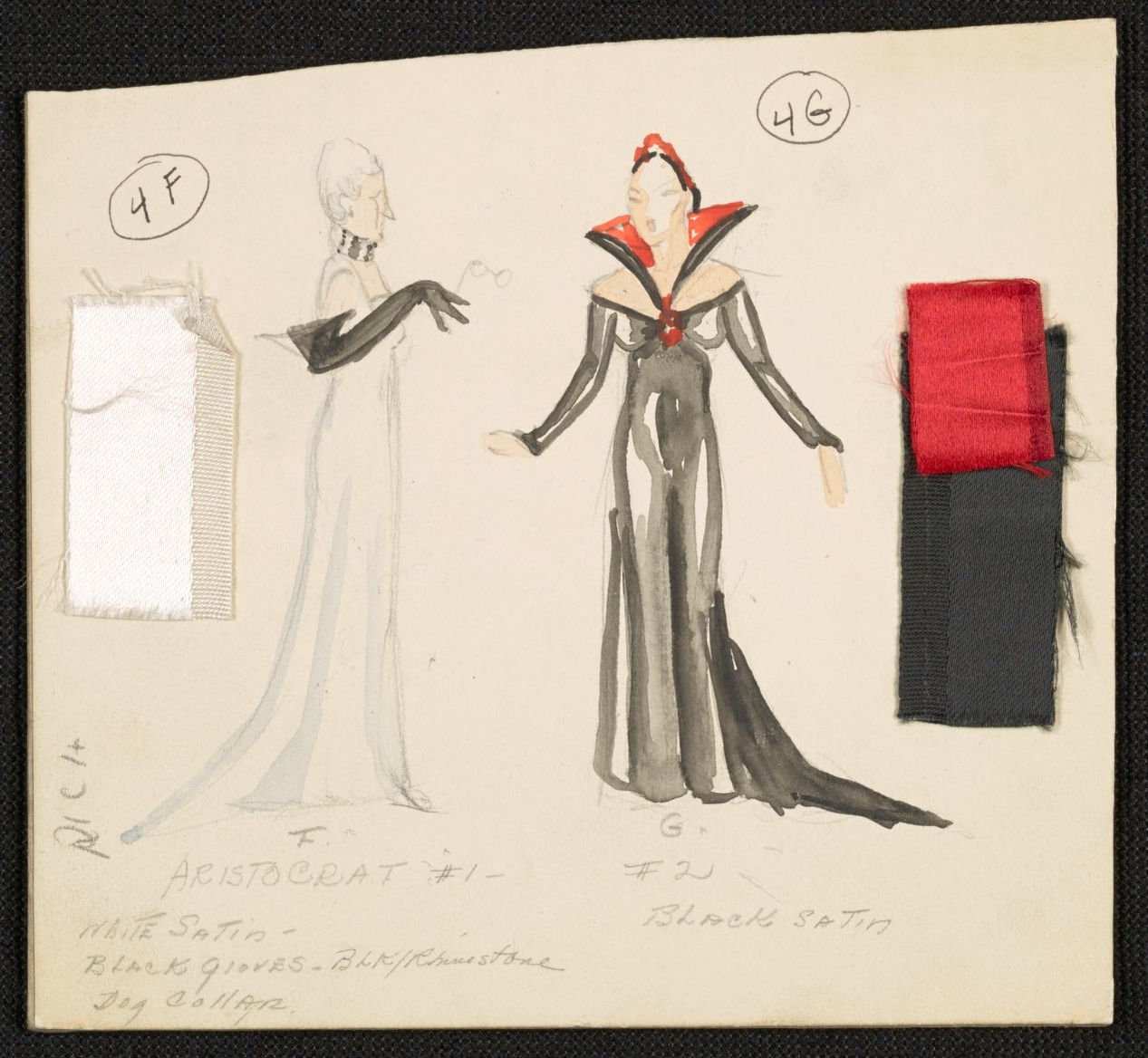 Dance Of Death Aristocrat 1 2 White Dress Black Gloves Silver Dress Red Collar Library Of Congress