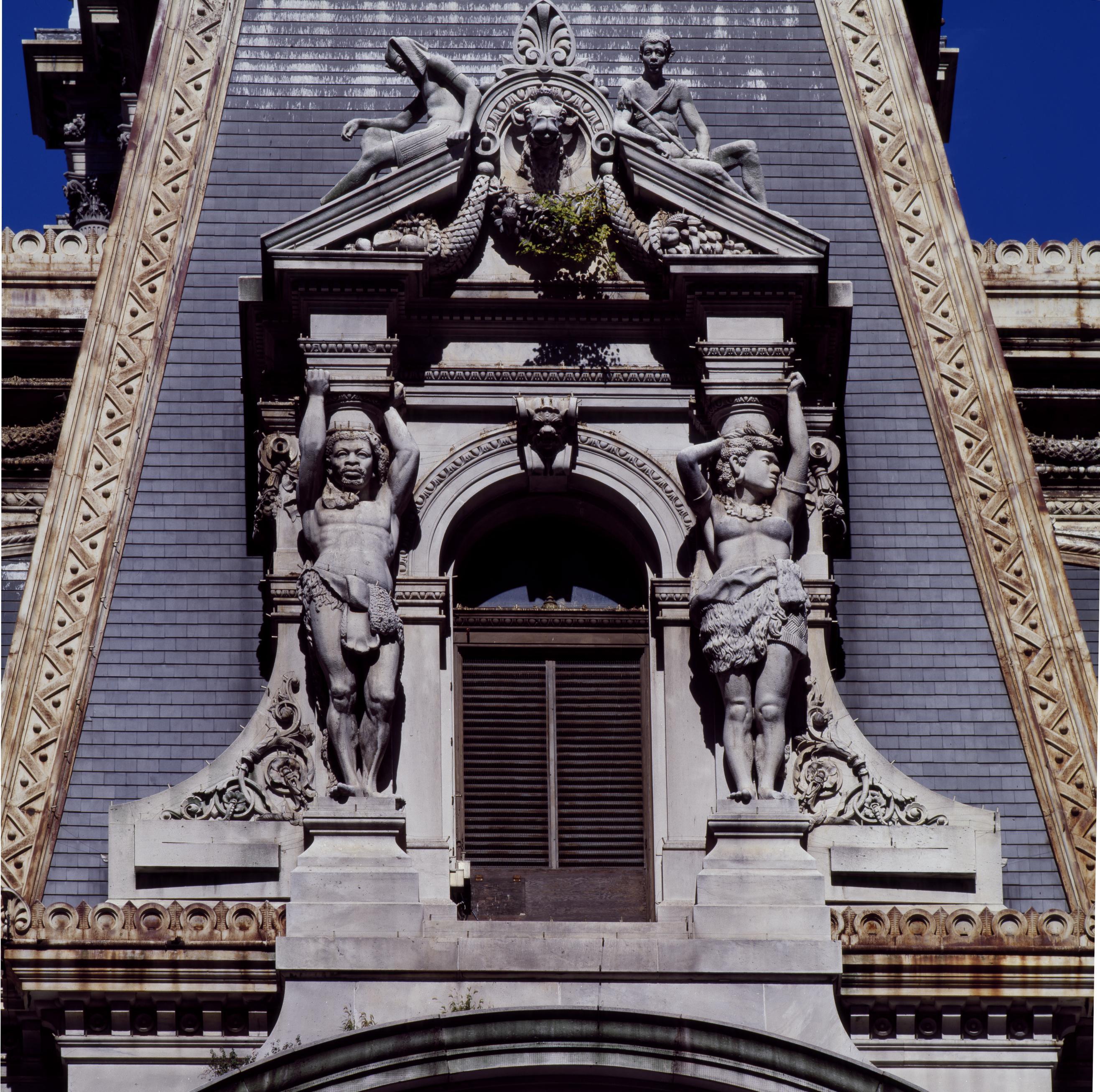 Alexander Milne Calder Sculptures In A Corner Pavilion Of City Hall Philadelphia Pennsylvania Library Of Congress