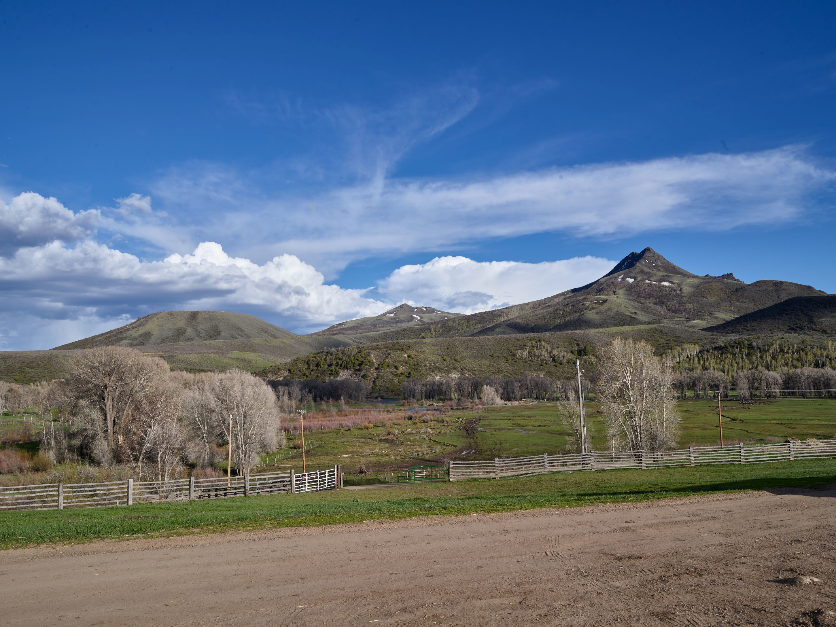 Scene At The Ladder Livestock Ranch On The Colorado Border Near Savery Wyoming The Ranch Operates In Both States Running Sheep In Wyoming And Cattle In Colorado Squaw Mountain A Local Landmark