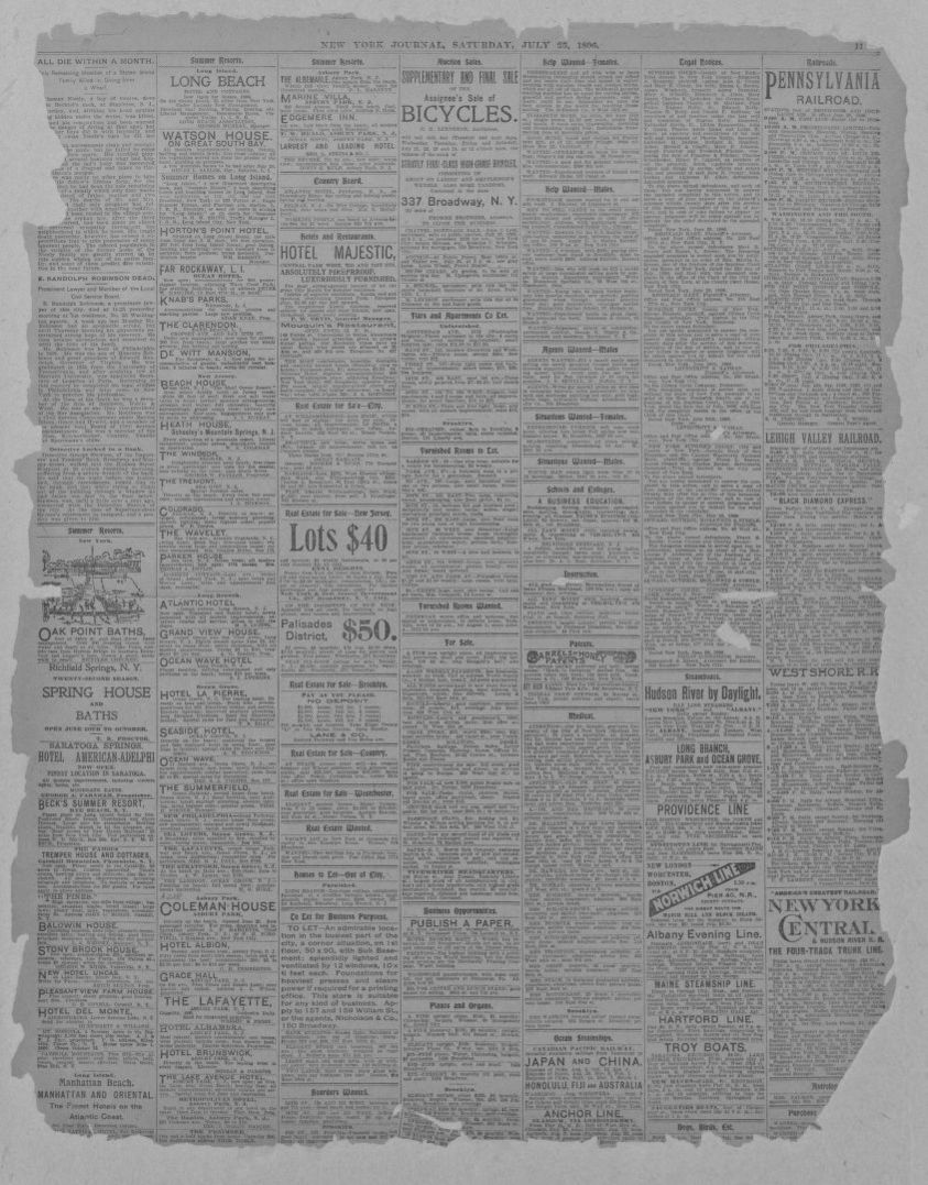Image 11 Of New York Journal N Y July 25 1896 Library Congress