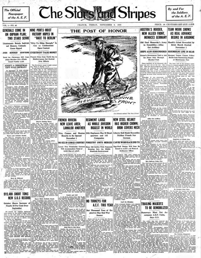 stars and stripes the american soldiers newspaper of world war i 1918 to 1919 library of congress