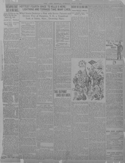 image 7 of new york journal and advertiser july 5 1898 library