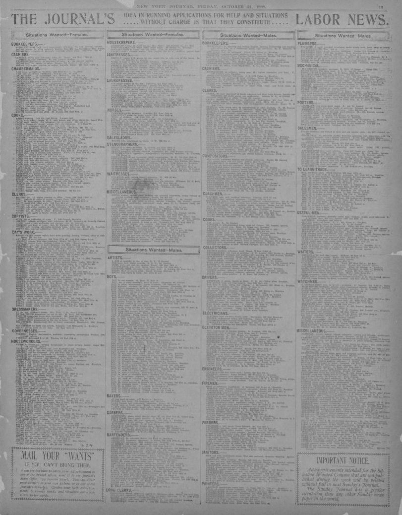 Image 13 Of New York Journal And Advertiser NY October 21 1898
