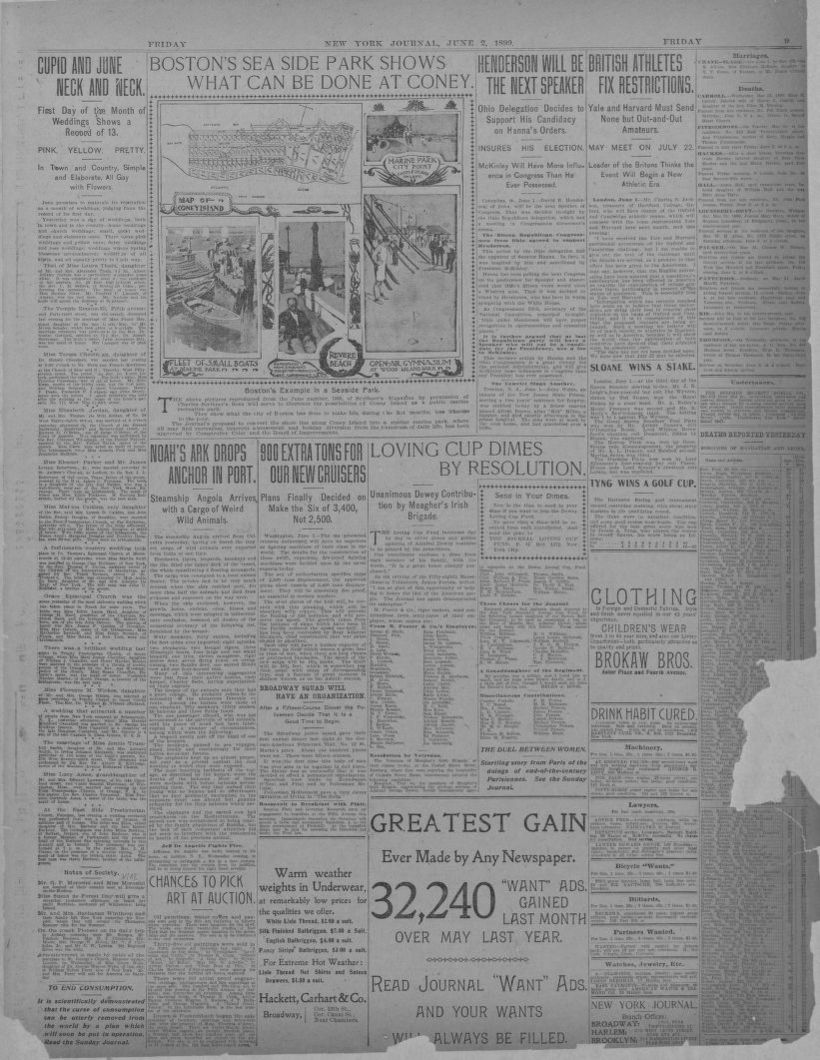 Image 9 Of New York Journal And Advertiser New York Ny