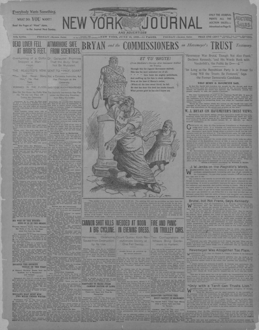 Image 1 of New York journal and advertiser (New York [N Y ]), June