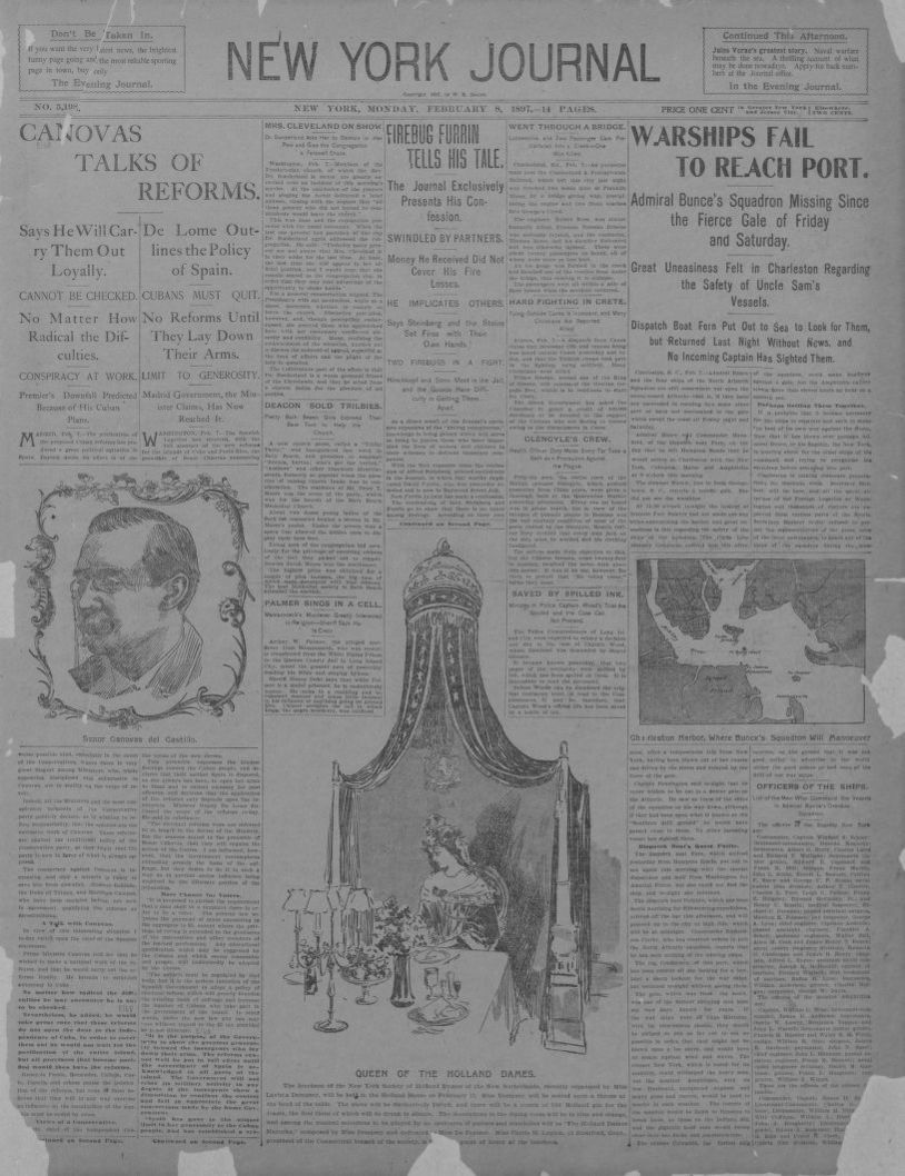 Image 1 of New York journal (New York [N Y ]), February 8