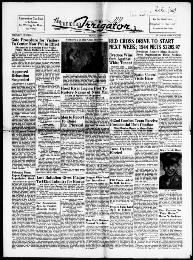 Japanese-American Internment Camp Newspapers, 1942 to 1946