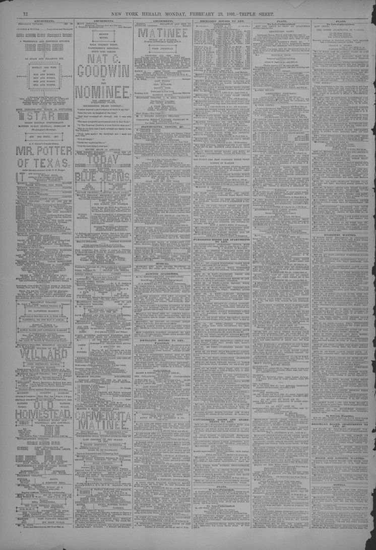 Search results for Newspaper, Herald, 1800/1899, 12