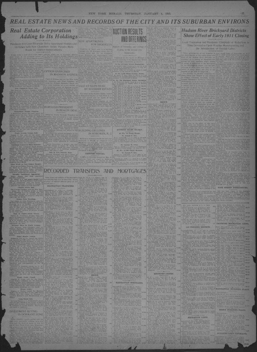 Image 17 Of The New York Herald New York N Y January 4 1912
