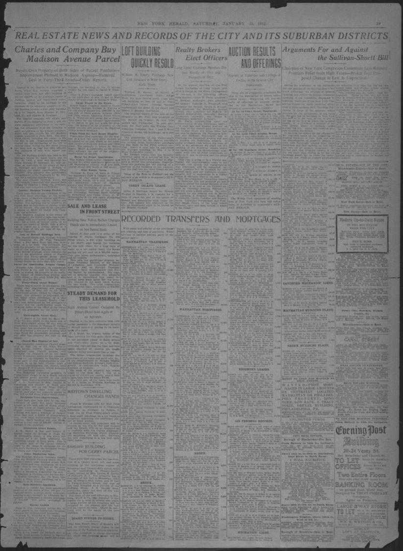 Image 19 Of The New York Herald New York N Y January 13 1912 Library Of Congress