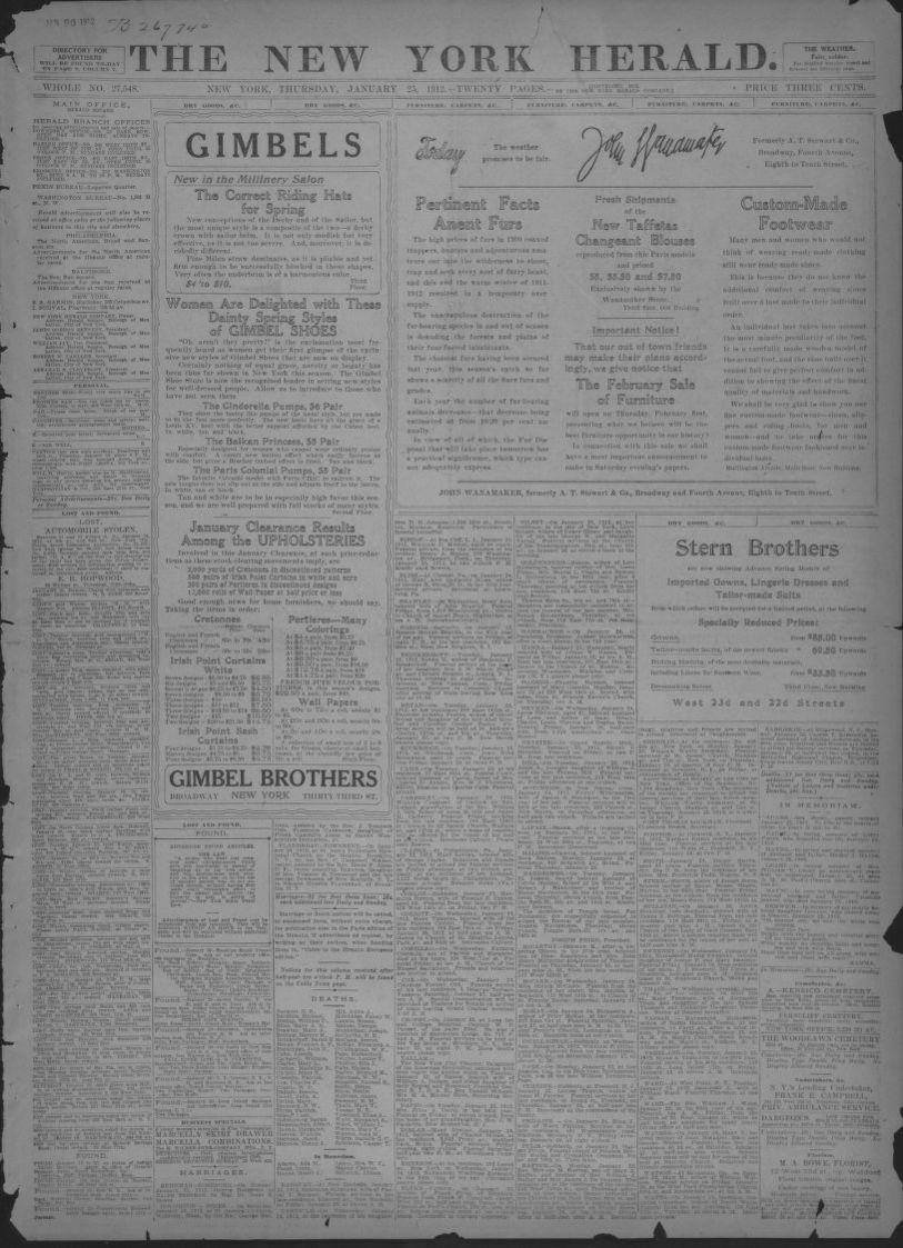 Newspaper, 1912 | Library of Congress