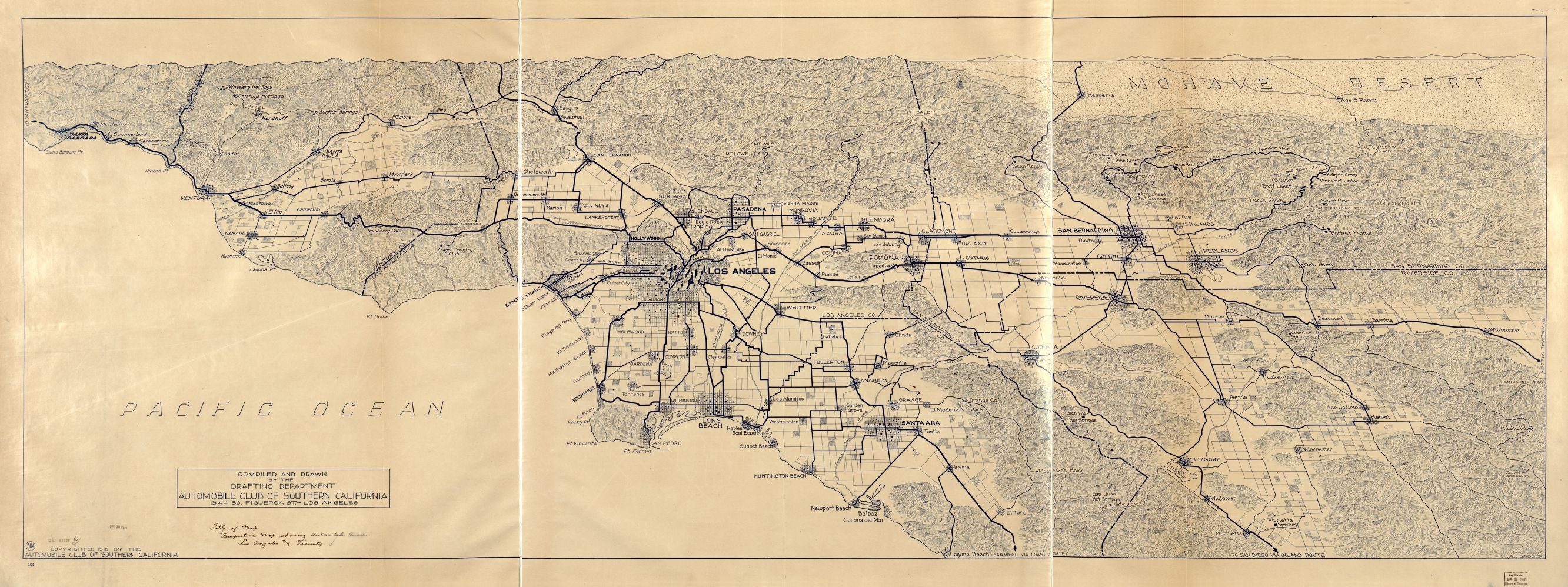 Elevation Map Los Angeles ca Map of Los Angeles And The