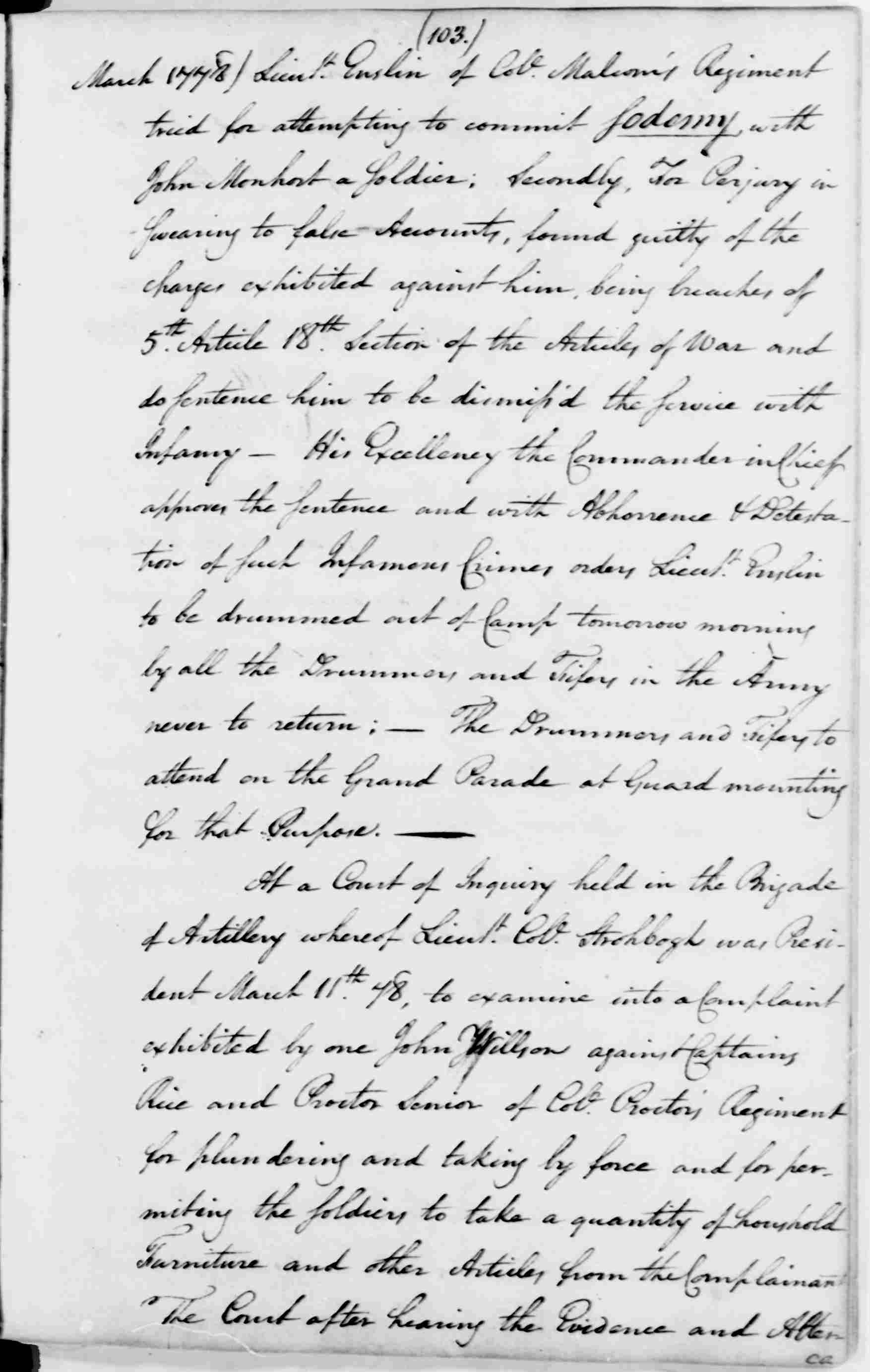 George Washington. George Washington Papers, Series 3, Varick Transcripts, 1775-1785, Subseries 3G, General Orders, 1775-1783, Letterbook 3: Jan. 1, 1778 - Dec. 31, 1778. Library of Congress Manuscript Division.